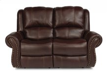 Patton Leather Power Reclining Loveseat with Power Headrests