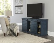 64 Inch Console - Navy - Distressed Gray, Black, Navy, Pine, Red, \u0026 White Finish Product Image