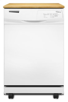 White-on-White Whirlpool® ENERGY STAR® Qualified Tall Tub Portable Dishwasher