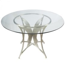 Drake Modern Dining Table In Stainless Steel With Clear Tempered Glass