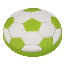 Kids Green Soccer Ball Cabinet Knob