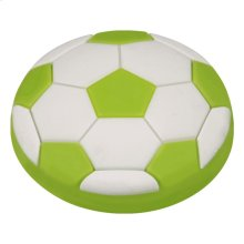 Kids Green Soccer Ball Cabinet Knob
