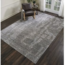Ellora Ell03 Slate Rectangle Rug 5'6'' X 7'5''