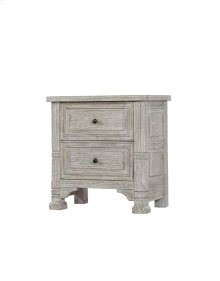 Emerald Home Taos 2 Drawer Nightstand Linen Wisp B972-04