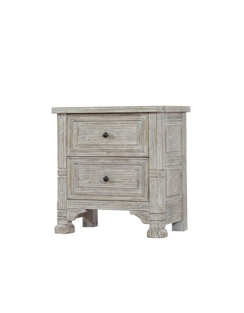 B97204 in by emerald home furnishings in ketchikan ak emerald emerald home taos 2 drawer nightstand linen wisp b972 04 solutioingenieria Images