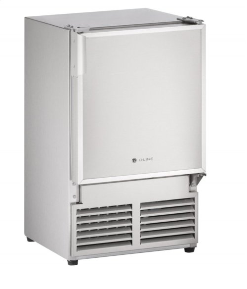 """Marine Series 14"""" Marine Crescent Ice Maker With Stainless Solid Finish and Field Reversible (no Flange) Door Swing (115 Volts / 60 Hz)"""