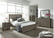 Queen Uph Bed, Dresser & Mirror, Chest, N/S