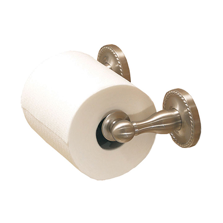 Satin-Nickel Double Post Toilet Tissue Holder
