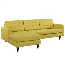 Empress Left-Facing Upholstered Fabric Sectional Sofa in Sunny