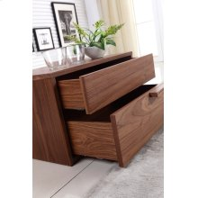 The Dolce Right Side Walnut Veneer Nightstand / End Table