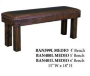 4' Laguna Bench W/Leather Seat Product Image