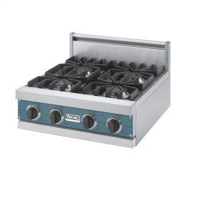 """Iridescent Blue 24"""" Sealed Burner Rangetop - VGRT (24"""" Wide, four burner)"""