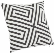 """Luxe Pillows Loop Embroidered Fretwork (21"""" x 21')"""