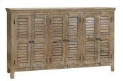 Bengal Manor Mango Wood Grey 6 Door Sideboard Product Image