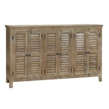Bengal Manor Mango Wood Grey 6 Door Sideboard