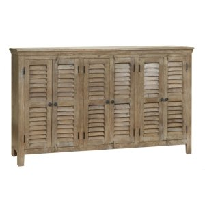 CRESTVIEW COLLECTIONSBengal Manor Mango Wood Grey 6 Door Sideboard