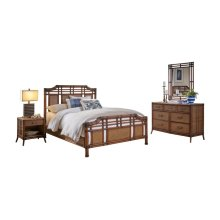 Palm Island 6 PC Complete Queen Bedroom Set
