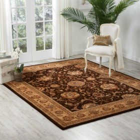 Nourison 2000 2206 Brn Rectangle Rug 27'' X 18''