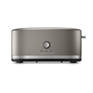 KitchenaidMETAL MANUAL LONG SLOT 4SL TOASTER - Cocoa Silver