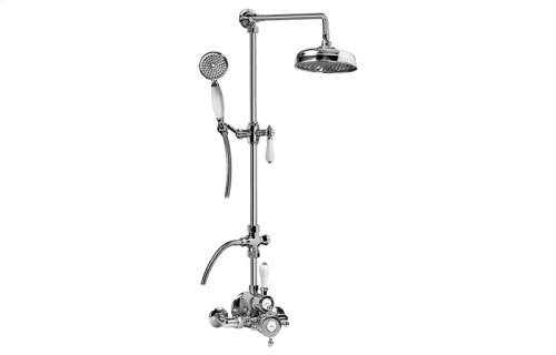 Exposed Thermostatic Shower System w/Handshower (Rough & Trim)
