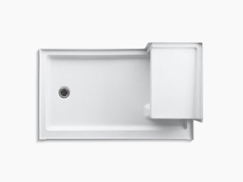 Hidden Additional Almond 60 X 36 Single Threshold Left Hand Drain Shower Base With