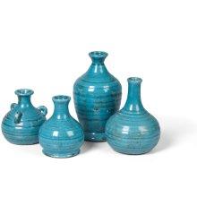 Prosecco Bud Vases, s/4 Turquoise