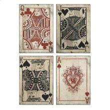 Leonato Playing Card Wall Decor - Set of 4