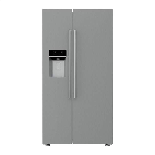 Blomberg 36in French Door counter depth SBS with ice + water dispenser stainless