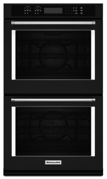 """30"""" Double Wall Oven with Even-Heat True Convection - Black"""