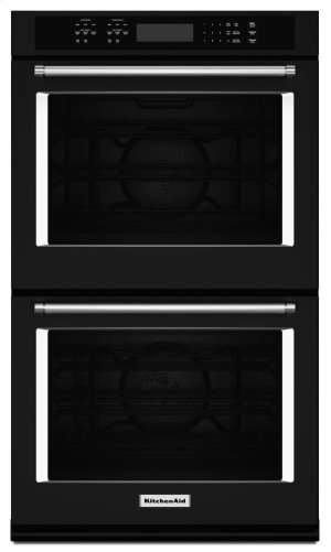 """30"""" Double Wall Oven with Even-Heat True Convection - Black Product Image"""