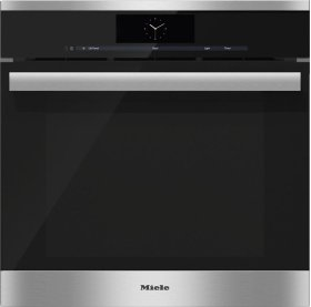 DGC 6865 AM Steam oven with full-fledged oven function and XXL cavity - the Miele all-rounder with mains water connection for discerning cooks.