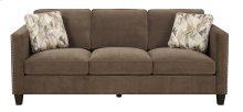 Sofa Chocolate W/2 Accent Pillows