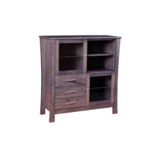 2 Door Great Room Cabinet with Plain Glass