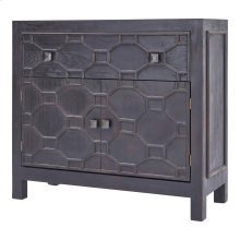 Silvestro Distressed Small Cabinet 1 Drawer + 2 Doors, Antique Brown
