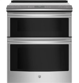 Slide-In Front Control 6.6 cu ft (2.2 Upper/ 4.4 Lower) Double Oven Electric Self Cleaning Convection Range