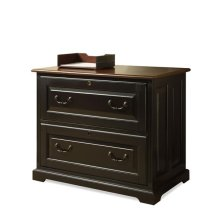 Bridgeport Lateral File Cabinet Burnished Cherry/Antique Black