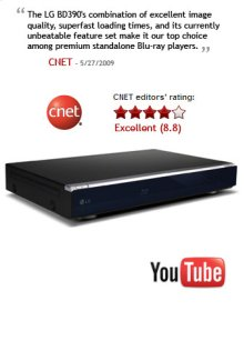 VOD: YouTube, Wireless LAN, DLNA, 1 GB Memory, 7.1 Ch Analog Output
