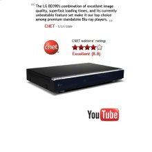 VOD: YouTube, Wireless LAN, DLNA, 1 GB Memory, 7.1 Ch Analog Output