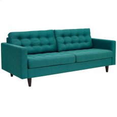 Empress Upholstered Fabric Sofa in Teal Product Image