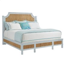 Resort Water Meadow Woven Bed-Queen in Sea Salt