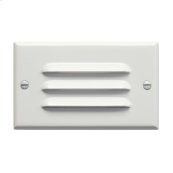 LED Step Light Horiz. Louver WH