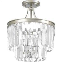 """Glimmer Collection Three-Light 15-1/2"""" Semi-Flush Convertible"""