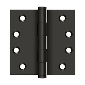 """4""""x 4"""" Square Hinges - Oil-rubbed Bronze"""