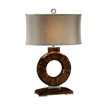 Porthole Faux Macassar Table Lamp