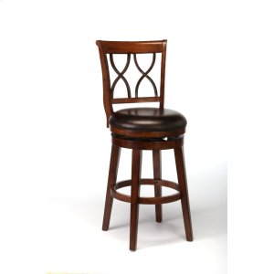 Hillsdale FurnitureReydon Swivel Bar Stool - Brown Cherry