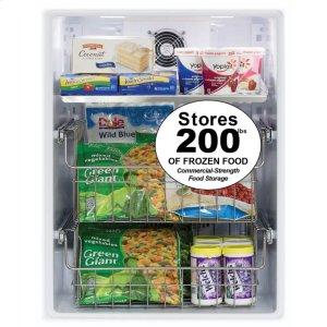 """Marvel24"""" Outdoor Freezer  Marvel Premium Refrigeration - 24"""" Outdoor All Freezer - Solid Stainless Steel Door with Lock, Left Hinge"""