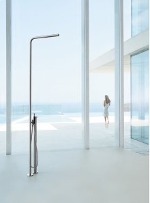 Free-standing thermostatic shower with hand shower - Grey