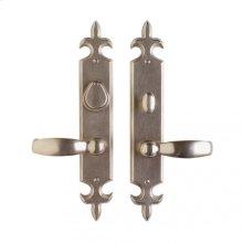 """Fleur de Lis Entry Set - 2 1/2"""" x 15"""" Silicon Bronze Brushed"""