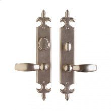 "Fleur de Lis Entry Set - 2 1/2"" x 15"" Silicon Bronze Brushed"