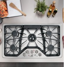 """GE Cafe™ Series 36"""" Built-In Gas Cooktop - CLEARANCE ITEM"""